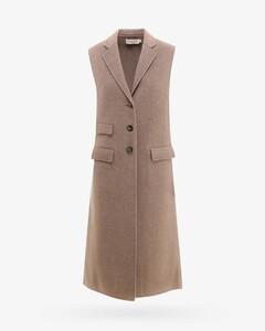 coat in virgin wool blend with belt