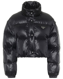 Cropped down jacket