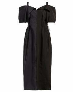 Gabi colour-block off-the-shoulder dress