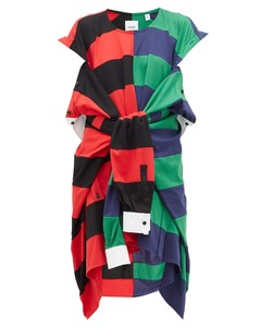 Rugby-shirt cotton dress