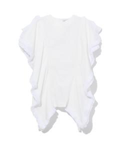 花卉印花純棉府綢中長連衣裙