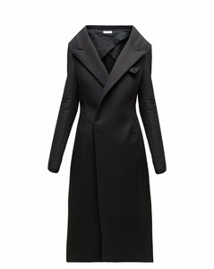 Double-breasted cashmere coat