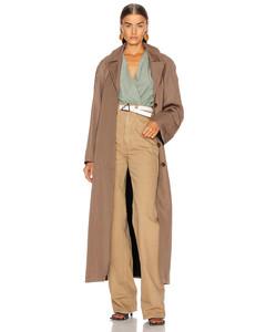 Tie Coat in Brown