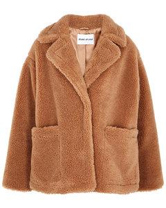 Marina brown faux shearling jacket