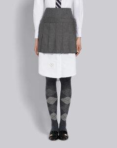 羊毛百褶短裙
