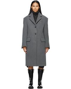 灰色Single大衣