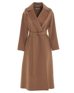 'S Max Mara Belted Long-Line Coat