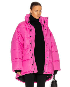 C Shape Puffer Jacket in Pink