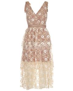 Floral Sequins Dress