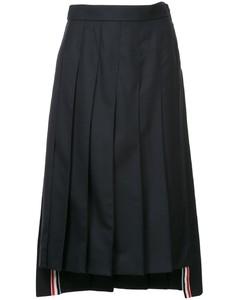 百褶中长半身裙