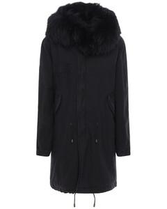 Parka Coat W/ Fur Trim