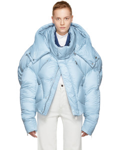SSENSE Exclusive Blue Short Quilted Puffer Jacket