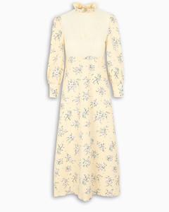Long dress with flower print
