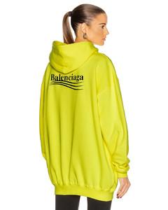 Political Medium Fit Hoodie in Yellow