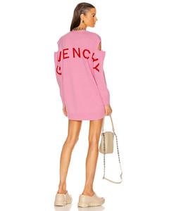 Logo Jacquard Oversize Cardigan in Pink