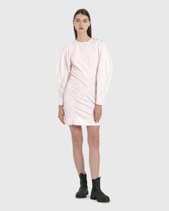 Asymmetric Striped Cotton Dress