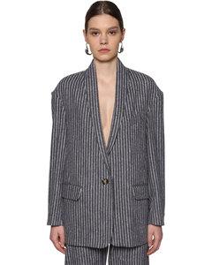 Piety Pinstripe Cotton Blend Jacket