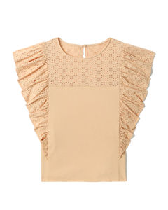 Io patchwork-print silk-twill robe