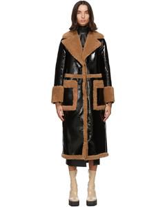 黑色&驼色Aubrey大衣
