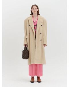 Faux Fur Oversized Coat_Beige