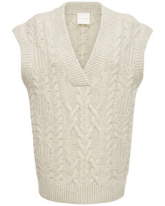 Canada Wool Cable Knit Vest