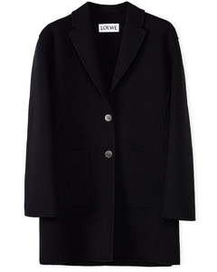 Black wool and cashmere jacket