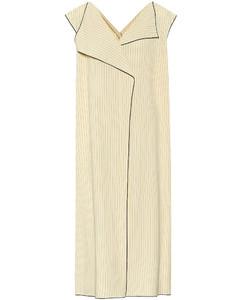 Malka striped twill dress