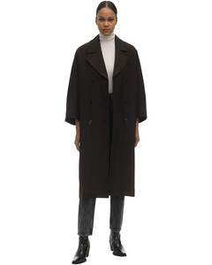Double Breasted Viscose Blend Coat