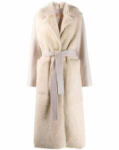 皮毛一體開襟式大衣