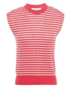 Woman Intarsia Cotton Top