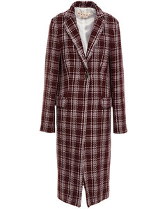 Woman Checked Wool-blend Coat