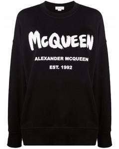 black cotton sweatshirt with logo