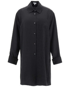 ORGANIC COTTON COLOUR BLOCK DRAWSTRING DRESS