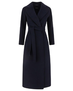 White wool belted waist coat