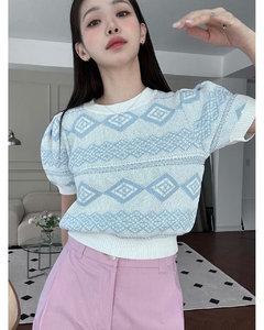 Montage-print velvet robe