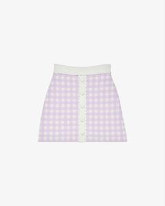 【周锡京同款】Jimmy check woven mini skirt