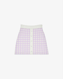【周锡京同款】Jimmy check woven mini skirt
