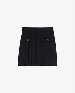 Rebeca embellished wool mini skirt