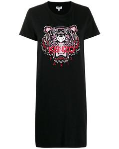 老虎印花T恤式連衣裙