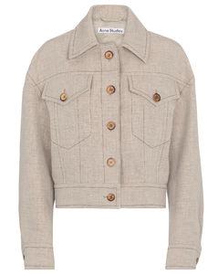 汉麻和亚麻混纺短款夹克