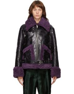 黑色Lento皮革夹克