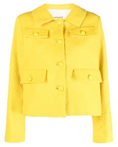 Cotton-blend tulle-trimmed lace blouse