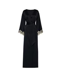 Silk Long Robe with Frastaglio