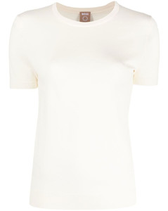 High-neck shearling gilet