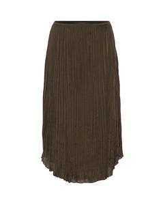 褶裥縐紗半身裙