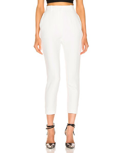 High Waisted Cigarette Pant in White