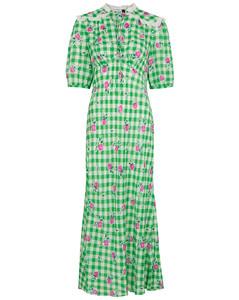 Gwen gingham floral-print maxi dress