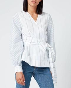 Women's Shirting Cotton Wrap Shirt - Block Colour