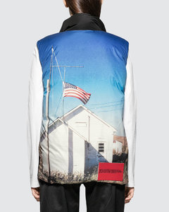 Back Printed Down Puffer Vest