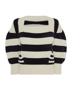 Panel-Striped Sweater